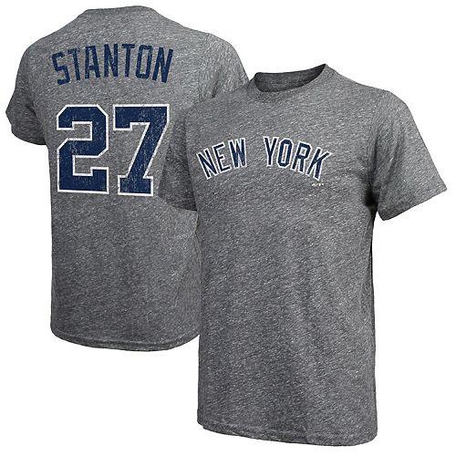 100% authentic 774be dd92b Men's Majestic Threads Giancarlo Stanton Gray New York ...