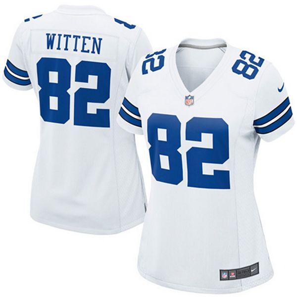 Women's Dallas Cowboys Jason Witten Nike White Game Jersey