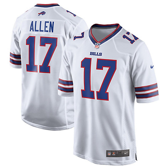 Men's Nike Josh Allen White Buffalo Bills Game Jersey