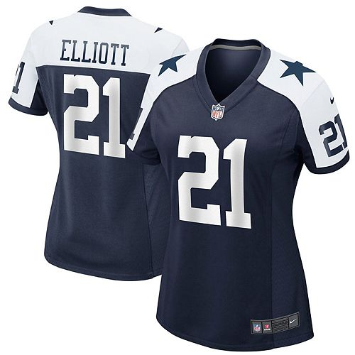 reputable site 81f7d d6e79 Women's Nike Ezekiel Elliott Navy Dallas Cowboys Alternate Game Jersey