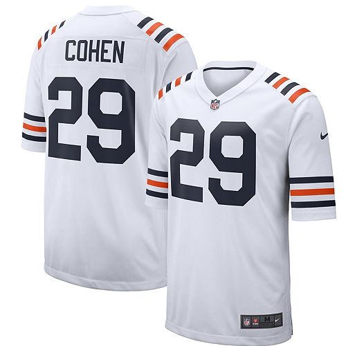 Men's Nike Tarik Cohen White Chicago Bears 2019 Alternate Classic Game Jersey