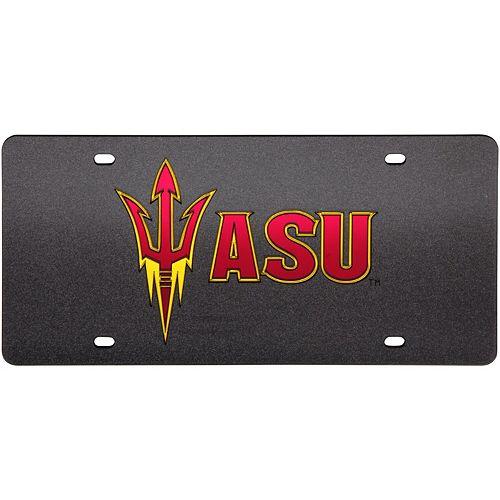 Arizona State Sun Devils Glitter License Plate - Black
