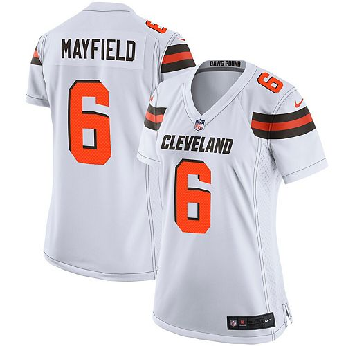 Women's Nike Baker Mayfield White Cleveland Browns Player Game Jersey