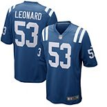 Men's Nike Darius Leonard Royal Indianapolis Colts Player Game Jersey