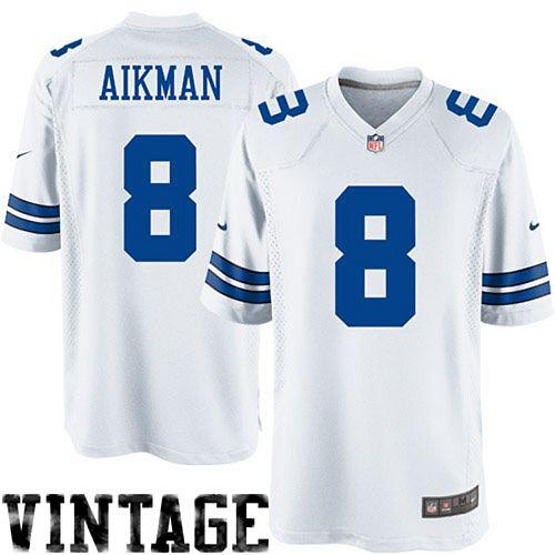 brand new dbb05 6de53 Men's Nike Troy Aikman White Dallas Cowboys Legends Replica Jersey