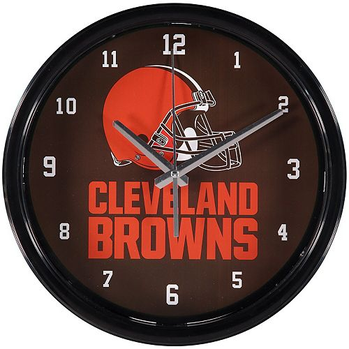 Cleveland Browns Historic Logo Black Rim Basic Clock