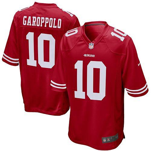 Men's Nike Jimmy Garoppolo Scarlet San Francisco 49ers Game Jersey