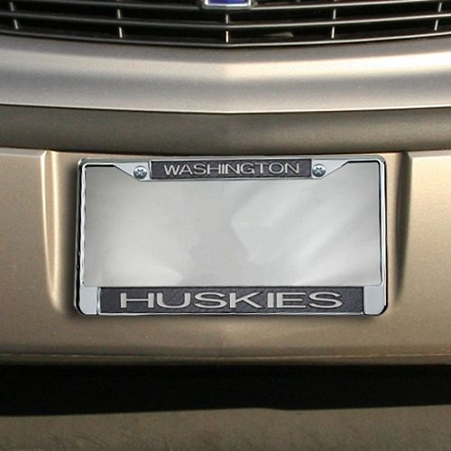 Washington Huskies Carbon Fiber Team License Plate Frame
