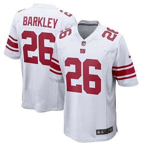 best sneakers 1841c 29e30 Men's Nike Saquon Barkley White New York Giants Game Jersey