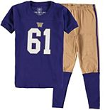 Youth Wes & Willy Purple Washington Huskies Football Pajama Set