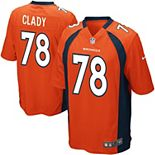 Youth Denver Broncos Ryan Clady Nike Orange Team Color Game Jersey