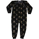 New Orleans Saints Toddler Piped Raglan Full Zip Coverall - Black