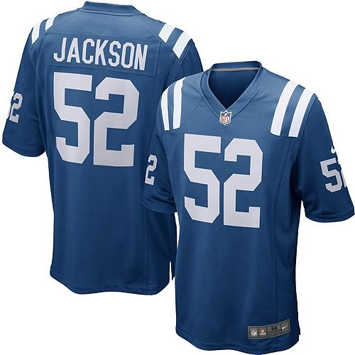 Men's Indianapolis Colts D'Qwell Jackson Nike Royal Game Jersey