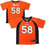 Toddler Denver Broncos Von Miller Nike Orange Game Jersey