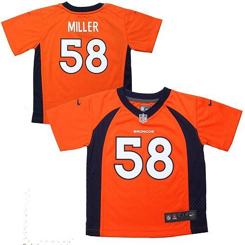 Toddler Denver Broncos Von Miller Nike Orange Game Jersey