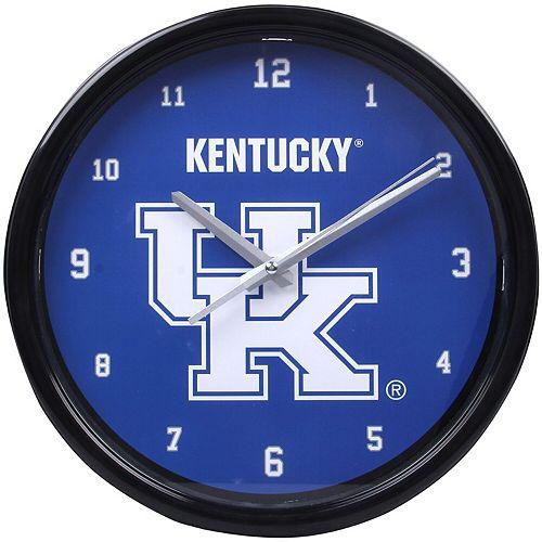 Kentucky Wildcats Black Rim Basic Clock