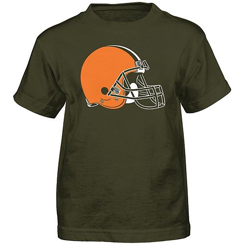 Preschool Brown Cleveland Browns Team Logo Short Sleeve T-Shirt