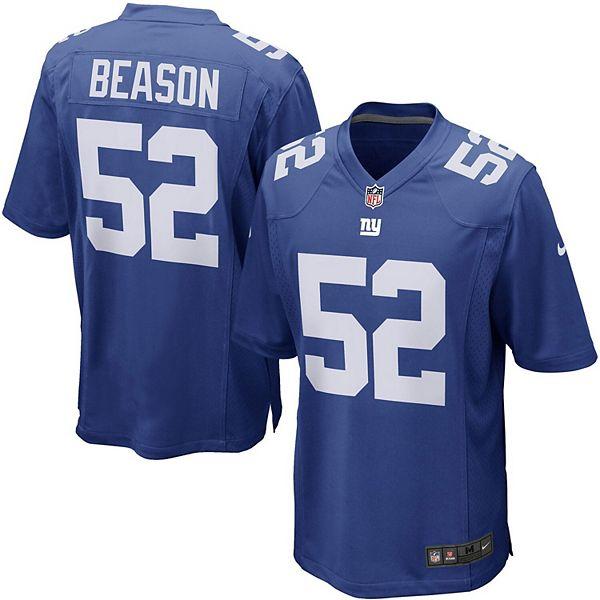 Mens New York Giants Jon Beason Nike Royal Blue Game Jersey