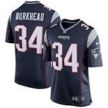 Men's Nike Rex Burkhead Navy New England Patriots Game Jersey