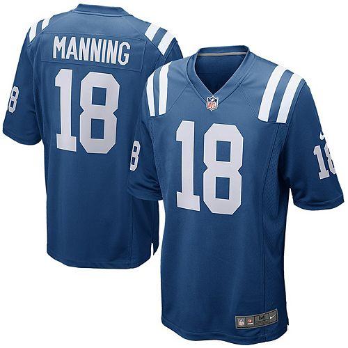 Men's Nike Peyton Manning Royal Indianapolis Colts Retired Player Game Jersey