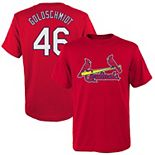 Youth Majestic Paul Goldschmidt Red St. Louis Cardinals Name & Number T-Shirt