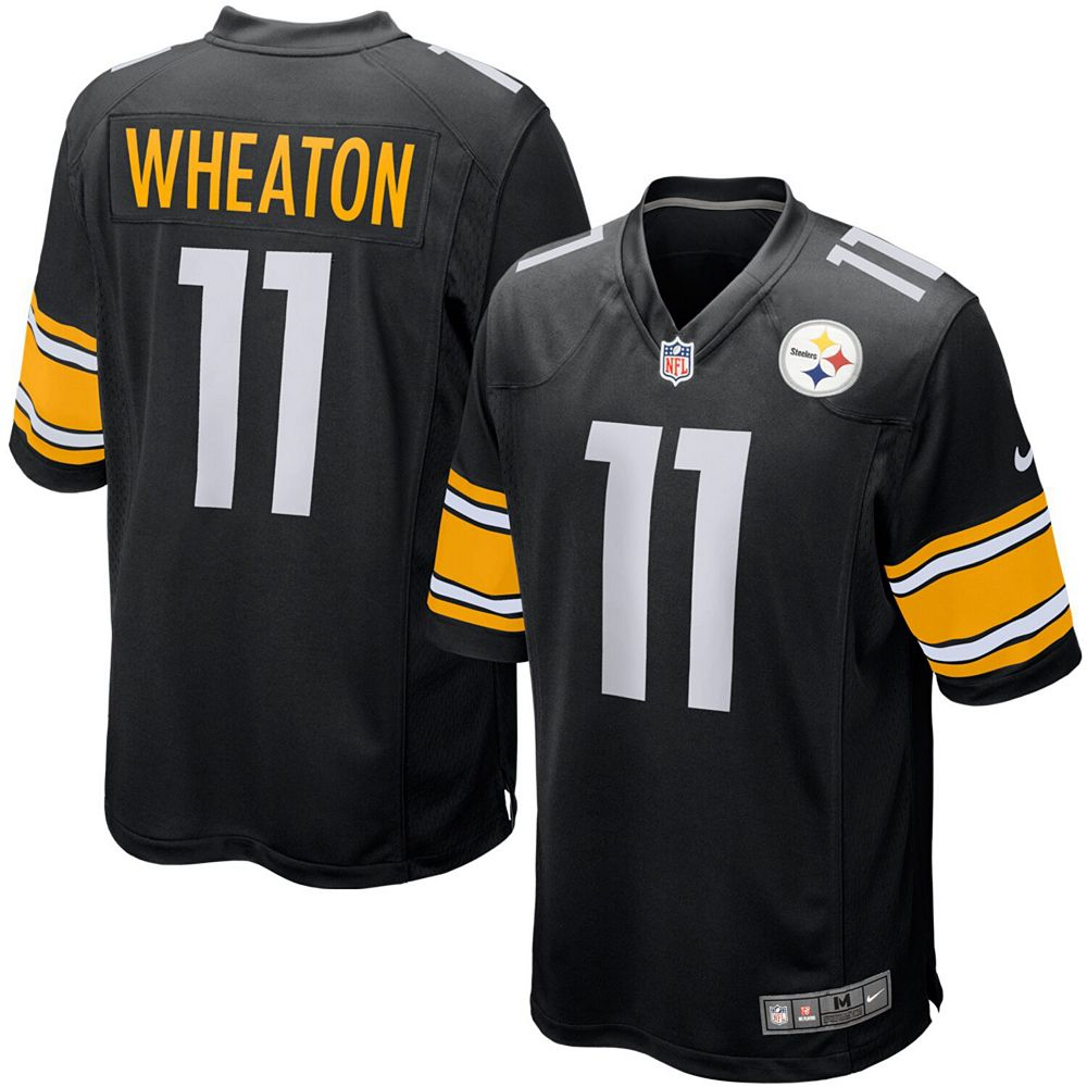 Youth Nike Markus Wheaton Black Pittsburgh Steelers Team Color Game Jersey