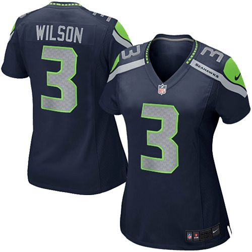 hot sale online e8542 1ca6a Girls Youth Seattle Seahawks Russell Wilson Nike College ...