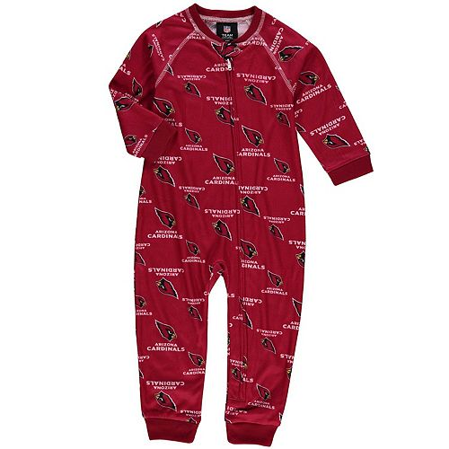 Toddler Cardinal Arizona Cardinals Piped Raglan Full-Zip Jumper