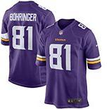 Men's Nike Moritz Bohringer Purple Minnesota Vikings Team Color Game Jersey