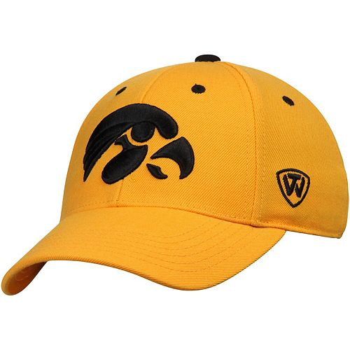 Men's Top of the World Gold Iowa Hawkeyes Dynasty Memory Fit Fitted Hat