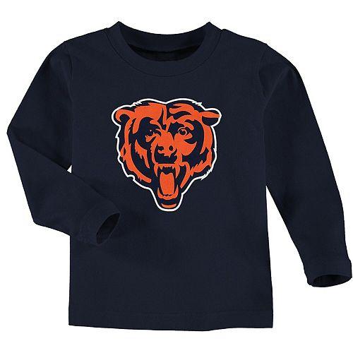 Toddler Navy Chicago Bears Team Logo Long Sleeve T-Shirt