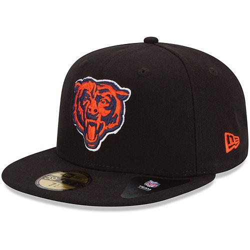New Era Chicago Bears Black 59FIFTY Fitted Hat