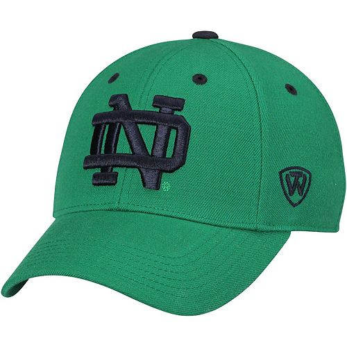 Men's Notre Dame Fighting Irish Top of the World Kelly Green Dynasty Memory Fit Fitted Hat