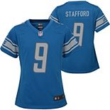 Girls Youth Nike Matthew Stafford Blue Detroit Lions Team Game Jersey