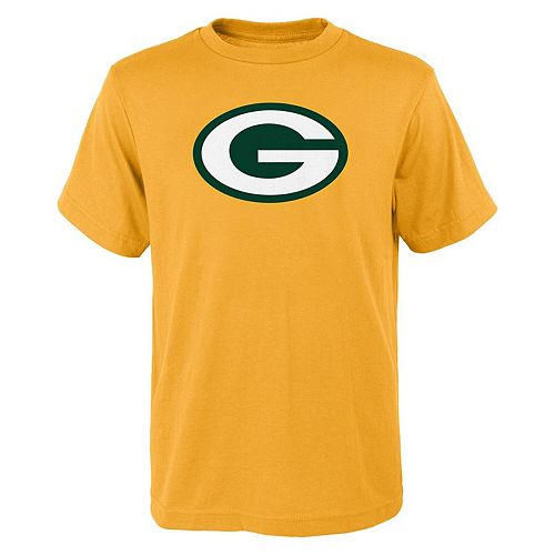 Green Bay Packers Youth Primary Logo T-Shirt - Gold