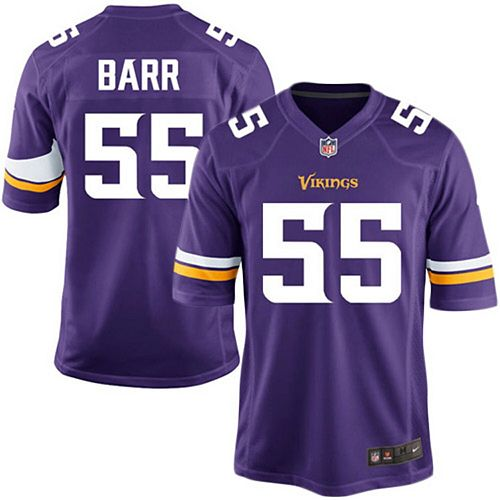 Youth Nike Anthony Barr Purple Minnesota Vikings Team Color Game Jersey