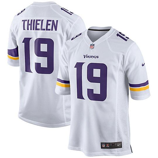 Youth Nike Adam Thielen White Minnesota Vikings 2018 Game Jersey