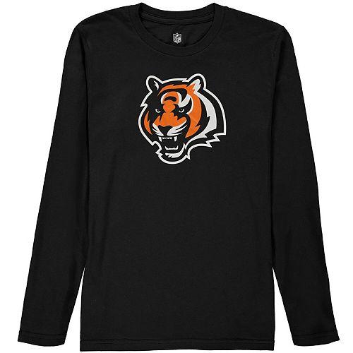 Cincinnati Bengals Youth Team Logo Long Sleeve T-Shirt - Black
