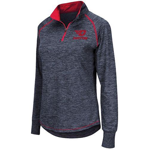 Women's Colosseum Navy Dayton Flyers Bikram Quarter-Zip Pullover Jacket