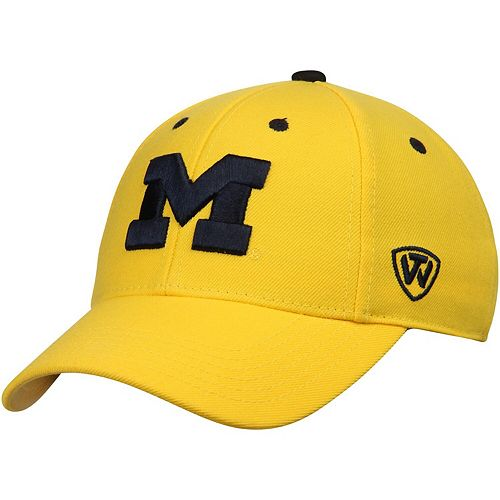 Men's Top of the World Maize Michigan Wolverines Dynasty Memory Fit Fitted Hat