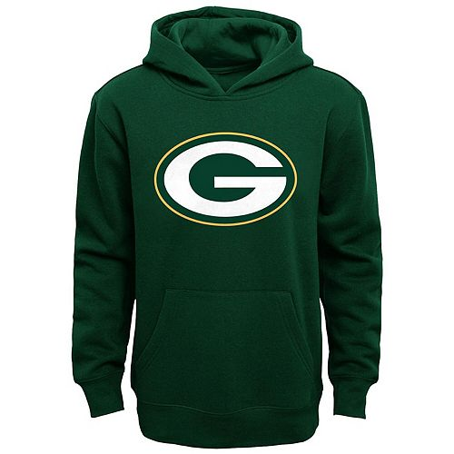Green Bay Packers Youth Primary Logo Fleece Hoodie Sweatshirt - Green