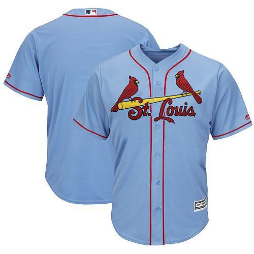 Men's Majestic Horizon Blue St. Louis Cardinals Alternate Cool Base Team Jersey