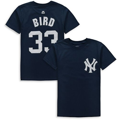 Youth Majestic Greg Bird Navy New York Yankees Player Name & Number T-Shirt