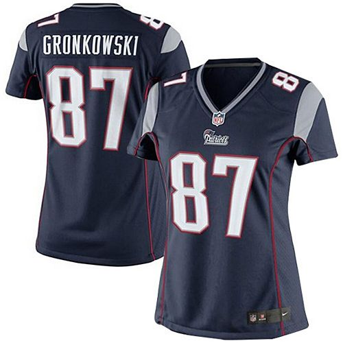 Girls Youth New England Patriots Rob Gronkowski Nike Navy Blue Game Jersey