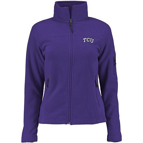 Women's Columbia Purple TCU Horned Frogs Give & Go Full-Zip Jacket
