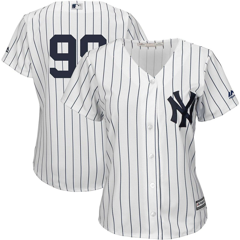 Women's Majestic Aaron Judge White New York Yankees Team Cool Base Player Jersey