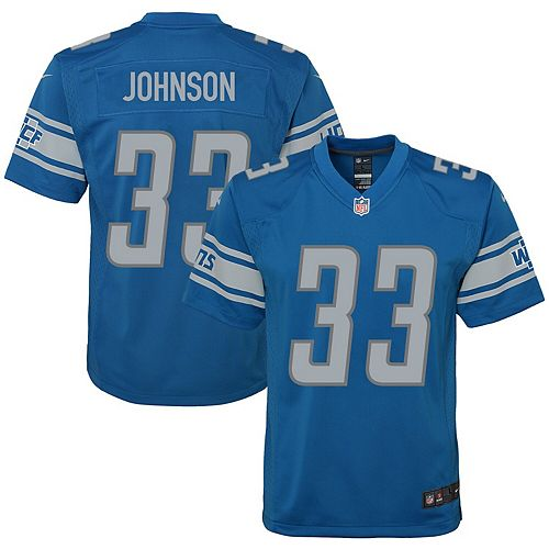 Kerryon Johnson Detroit Lions Nike Youth Game Jersey - Blue