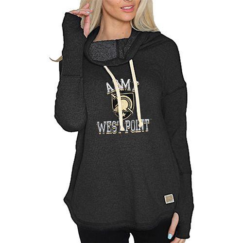 Women's Original Retro Brand Black Army Black Knights Funnel Neck Pullover Sweatshirt