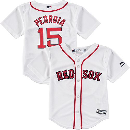 meet 12adc f1e11 Toddler Majestic Dustin Pedroia White Boston Red Sox Official Cool Base  Player Jersey