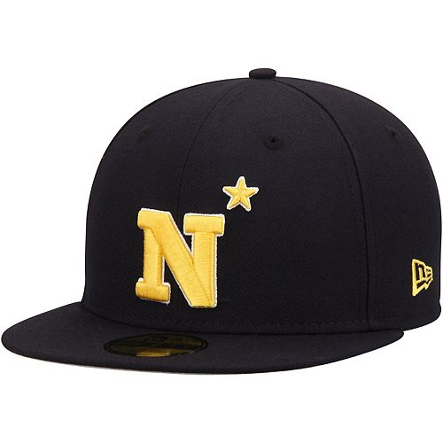 Men's New Era Navy Navy Midshipmen Basic 59FIFTY Fitted Hat